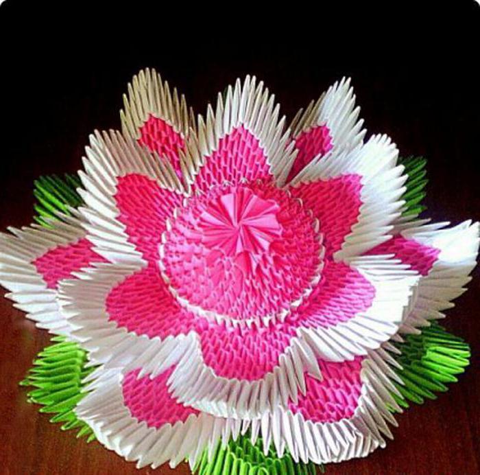 оригами из модулей цветок