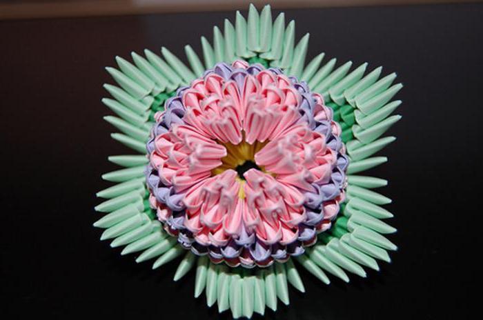 оригами из бумаги модули цветы