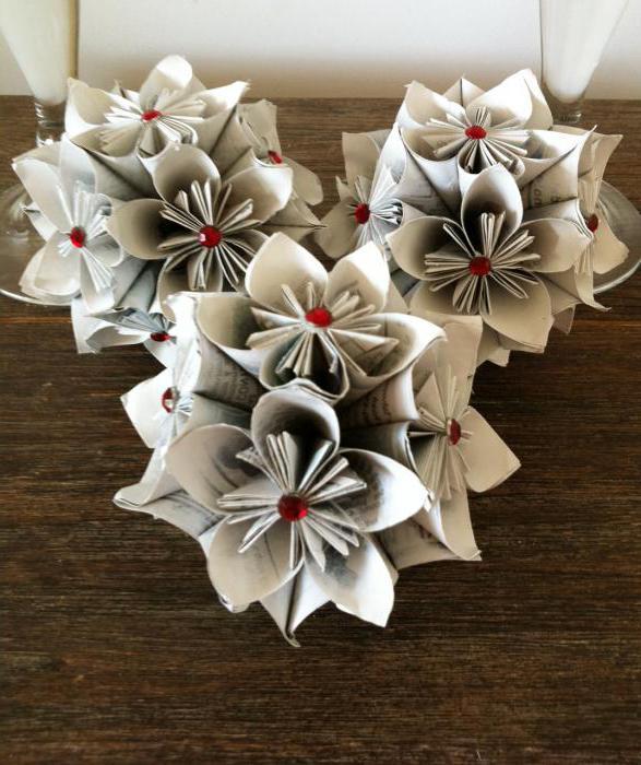 поделки из модулей оригами цветы