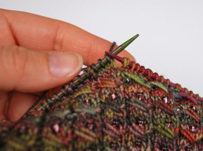 Вытянутые петли спицами. Узор с вытянутыми петлями (фото)