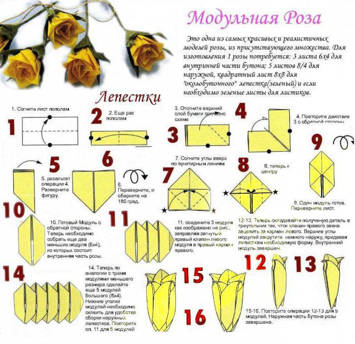 модульное оригами сборка