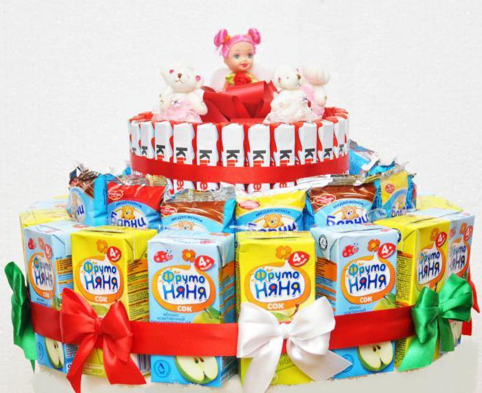 Детский торт из соков