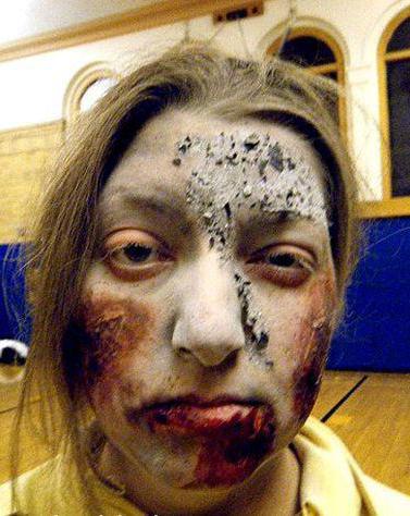 грим на хэллоуин зомби