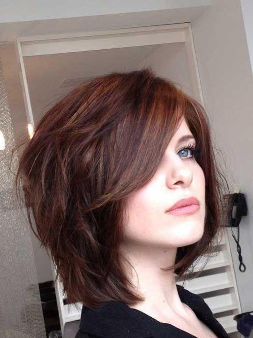 Лесенка на короткие волосы с челкой