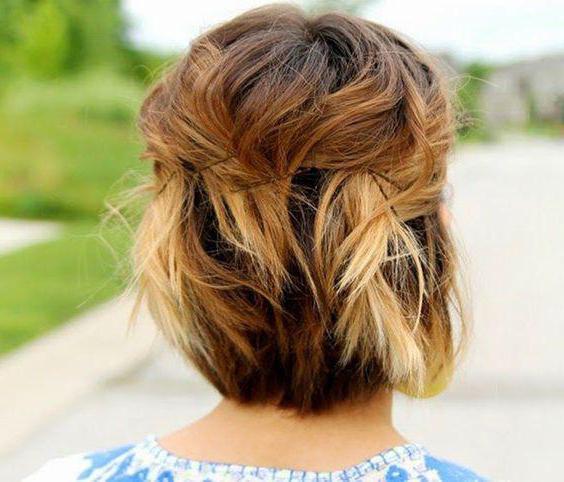 домашняя прическа короткие волосы
