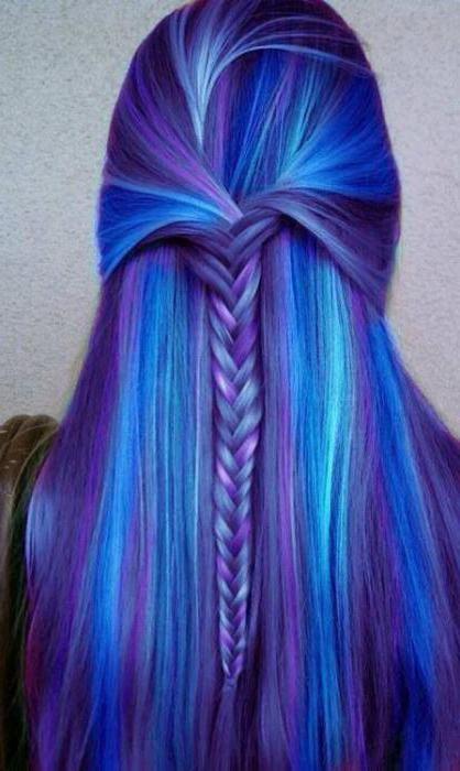 как красить мелками для волос волосы