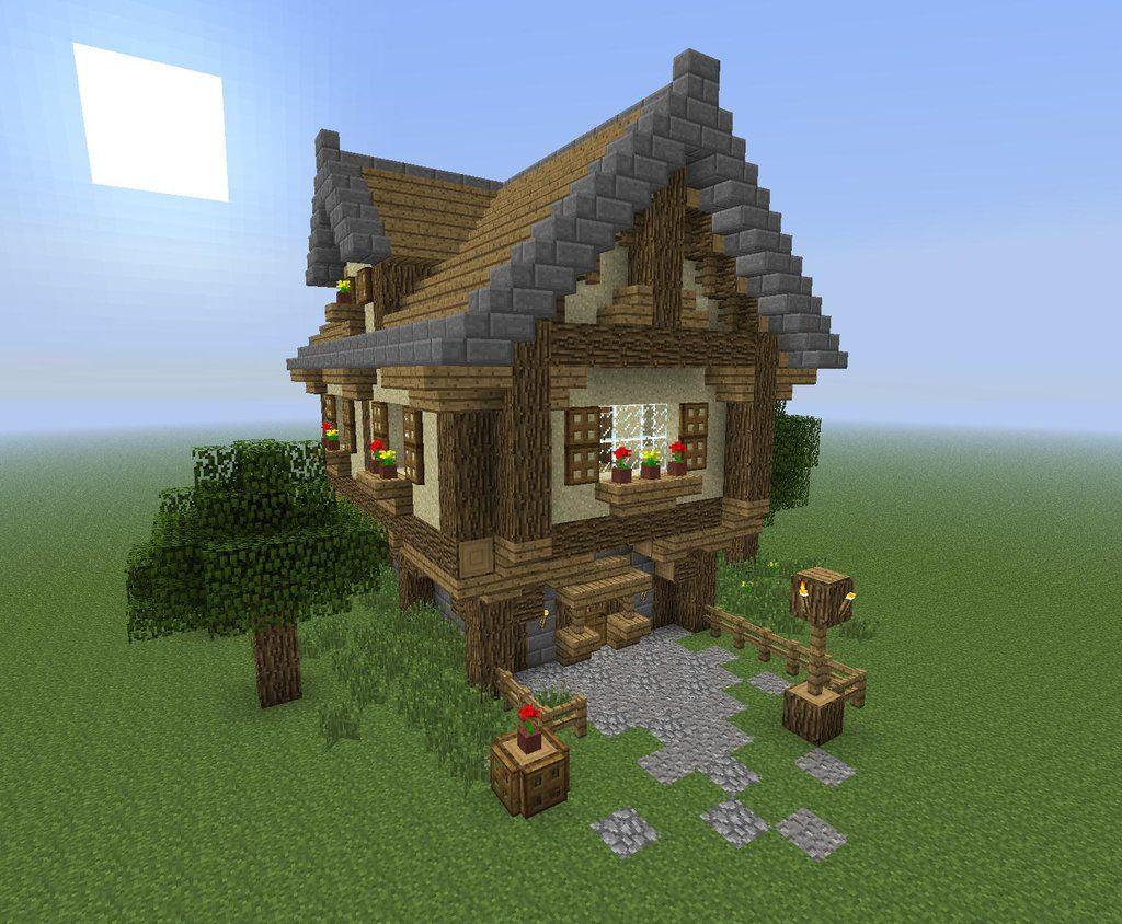 майнкрафт небольшой дом #7