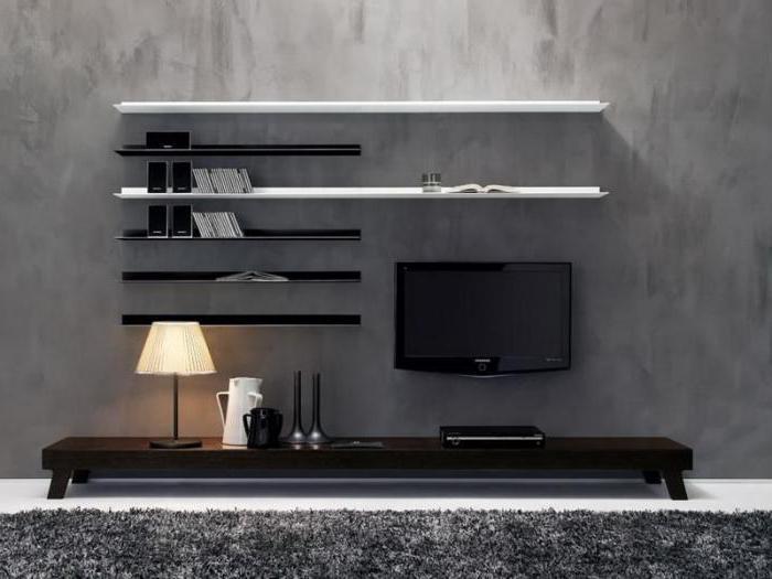 Полки под телевизор дизайн фото