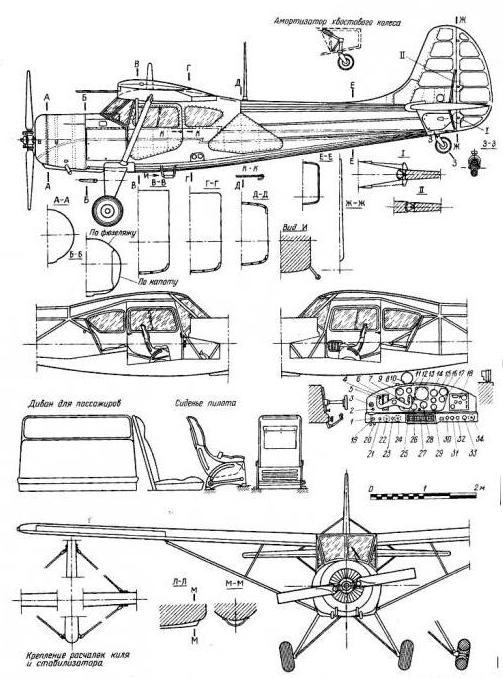 самолет як 12 технические характеристики
