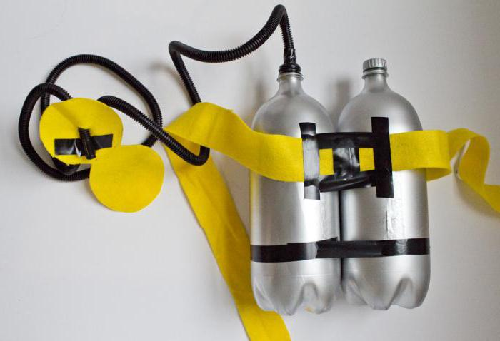 Как сделать из бутылки акваланг