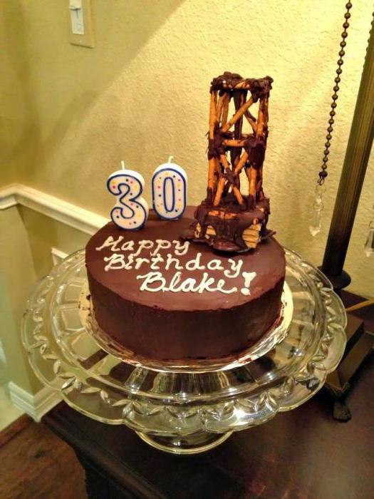 масляный торт на юбилей фото