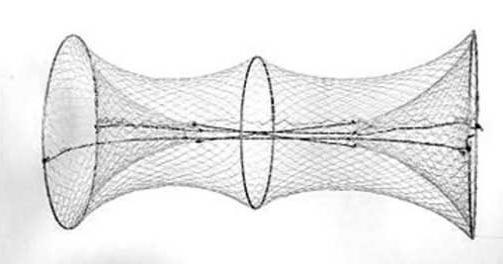 рыболовная сеть плетеная в вершах