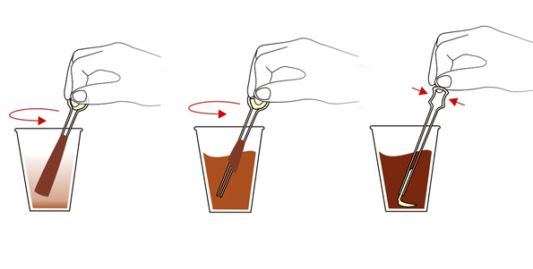 How to hold a coffee stick?