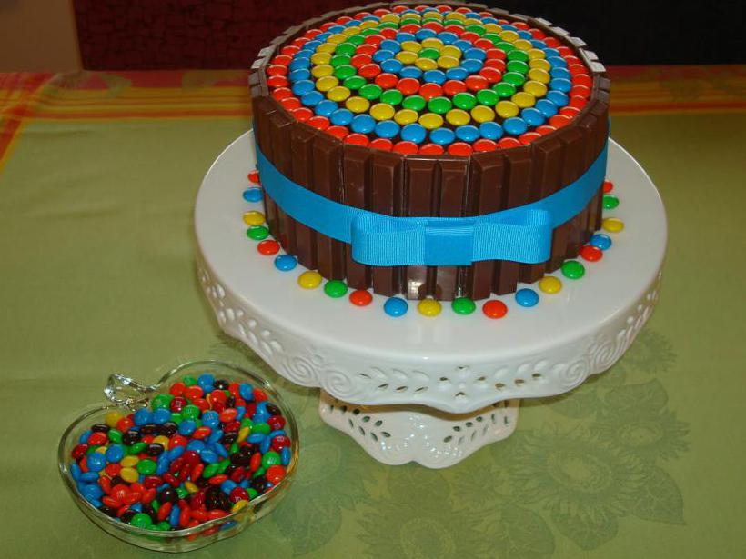 тортик из конфет без мастики.