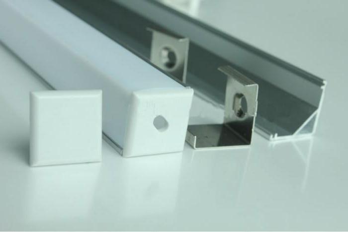 Пластиковый рассеиватель для светодиодной ленты