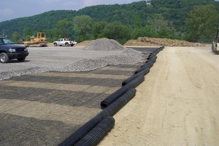 геосетка дорожного покрытия