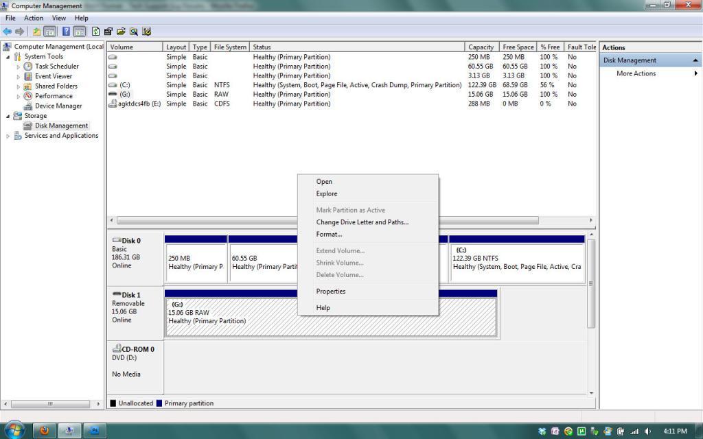 System formatting