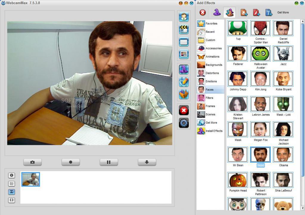 Webcam setup program