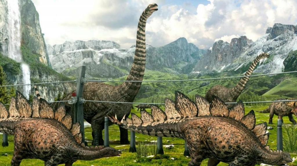 Динозавры с шипами на спине и хвосте