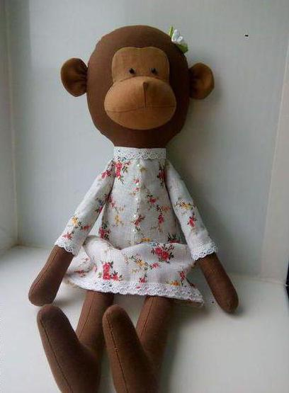 оригинальная кукла тильда обезьяна выкройки