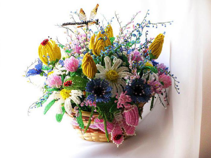 как плести из бисера цветки