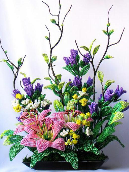 как плести из бисера деревья и цветы