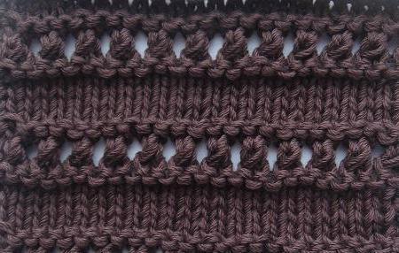 простое ажурное вязание спицами схемы