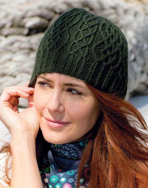 узоры для вязания шапок спицами схемы косы
