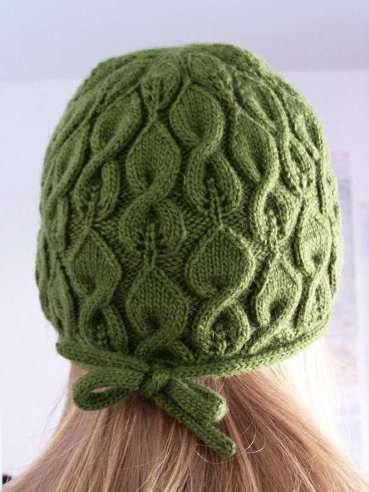 Узоры вязания для шапок спицами с описанием