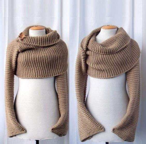 шарф трансформер вязать спицами