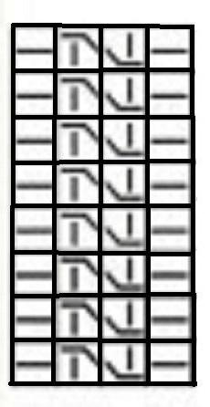 1143318 Схема вязания шарфа трансформера спицами