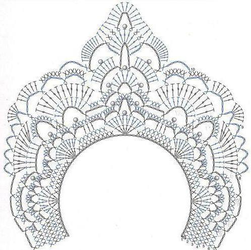 корона связанная крючком