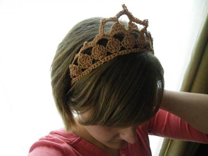 корона крючком для девочки