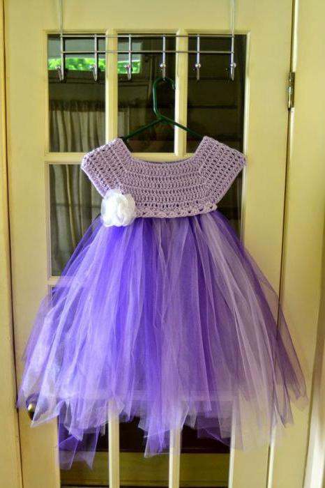 кокетка для детского платья крючком