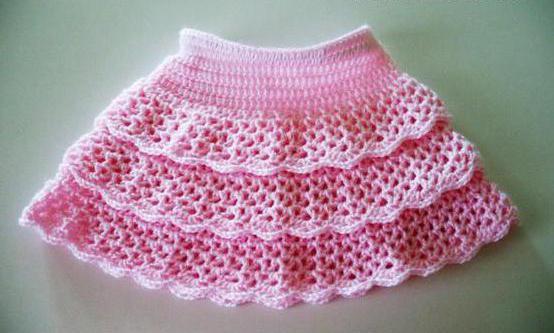 рюши крючком схемы для юбки