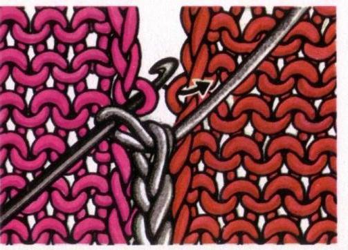 схема женского свитера с косами