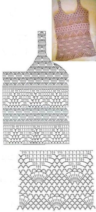 вязание крючком кофточка схема