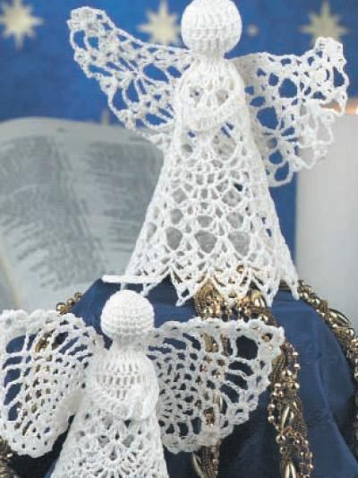 ангел крючок схема вязания