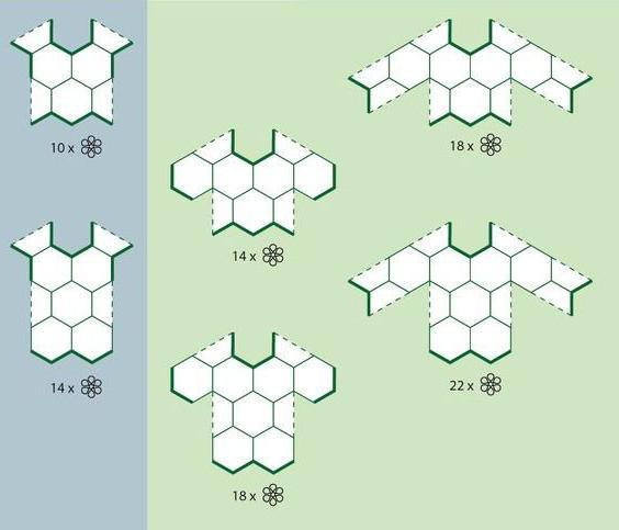 мотив круглый крючком схема