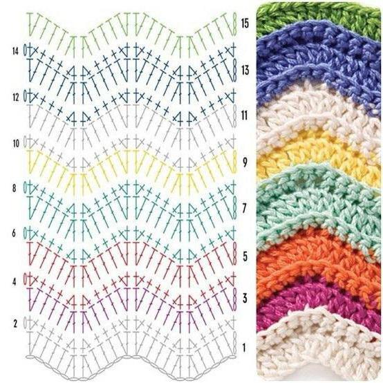 узор для вязания покрывала крючком