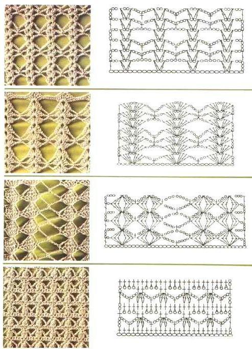 узоры для вязания митенок