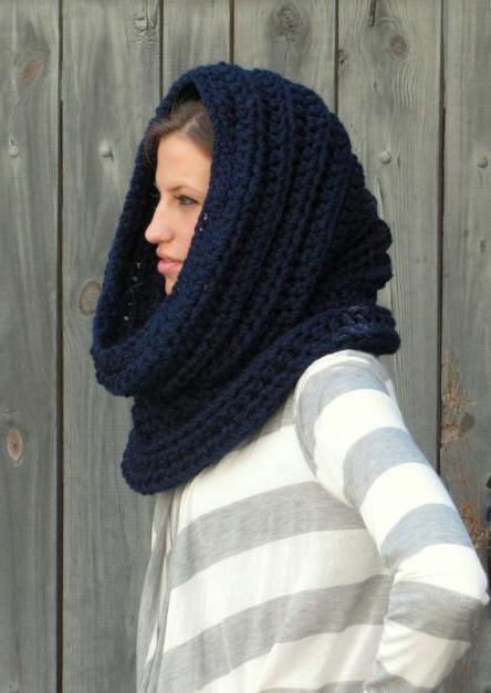 шарф хомут крючком схема