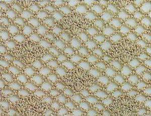 ажурный узор на основе филейной сетки