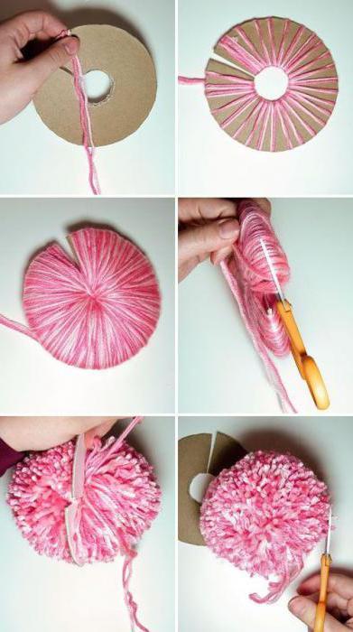 как сделать бубон из ниток на шапку