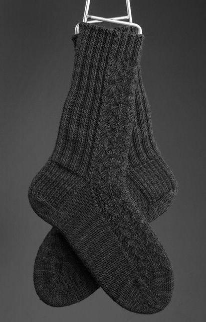 вязание мужских носков спицами с рисунком схемы