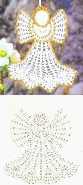 Ажурные ангелочки крючком со схемами: фото, описание