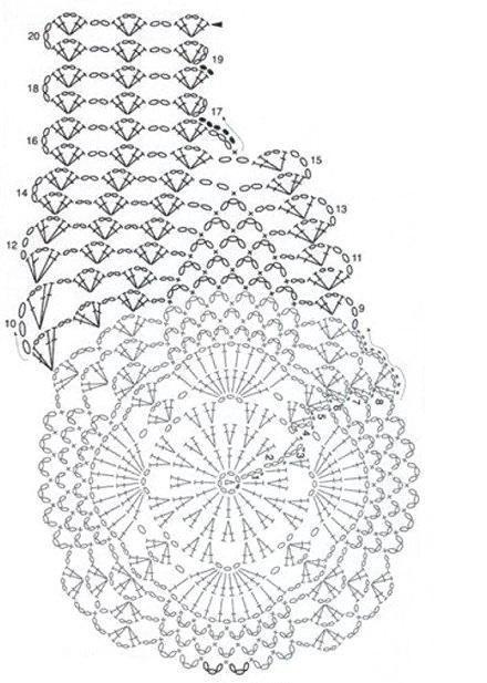 схема вязания полочки жилета