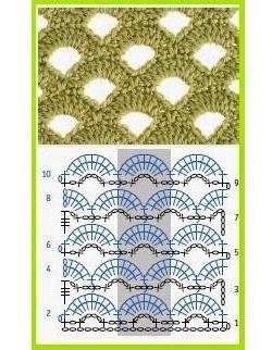 ажурные узоры крючком схемы кофточки