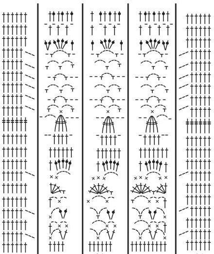 летняя кофточка крючком схема и описание