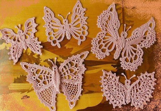 бабочка крючком схема и описание